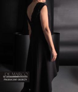 czarna suknia wiktoria szyta na miarę