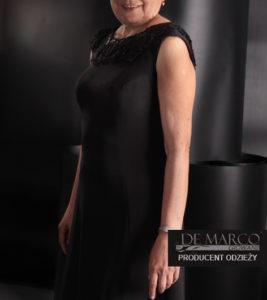 czarna suknia wieczorowa