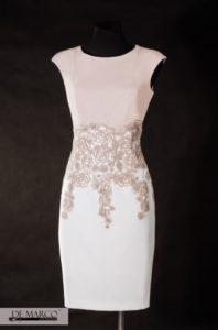 złota sukienka szyta na miarę dla mamy wesela