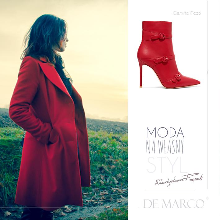 najmodniejszy czerwony płaszcz