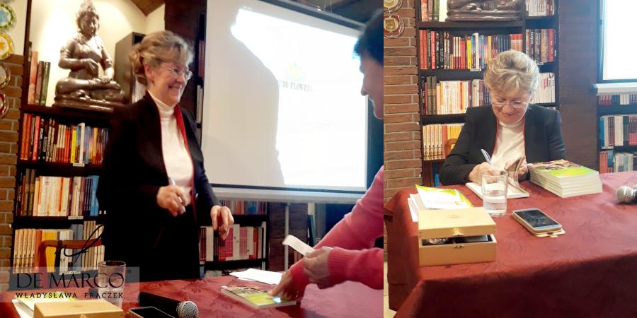Autorka technik leczenia i książek Lilianna Elmborg w kostiumie szytym na miarę w De Marco. Gorąco pozdrawiamy i życzymy sukcesów.