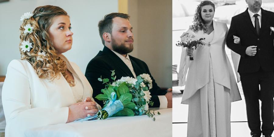 Piękny płaszcz do sukni ślubnej szyty na miarę on-line w De Marco. Szycie sukienek ślubnych dla młodych mam-pań.