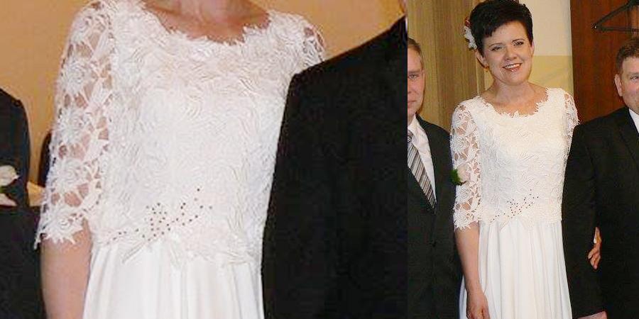 Śliczna sukienka szyta w De Marco