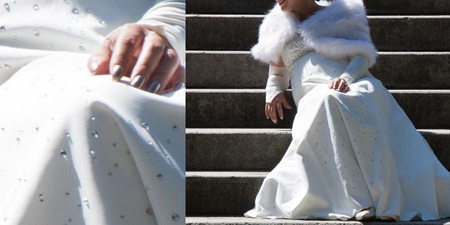 Suknia Ślubna ze swarowskimi projektowana i szyta na miarę w De Marco