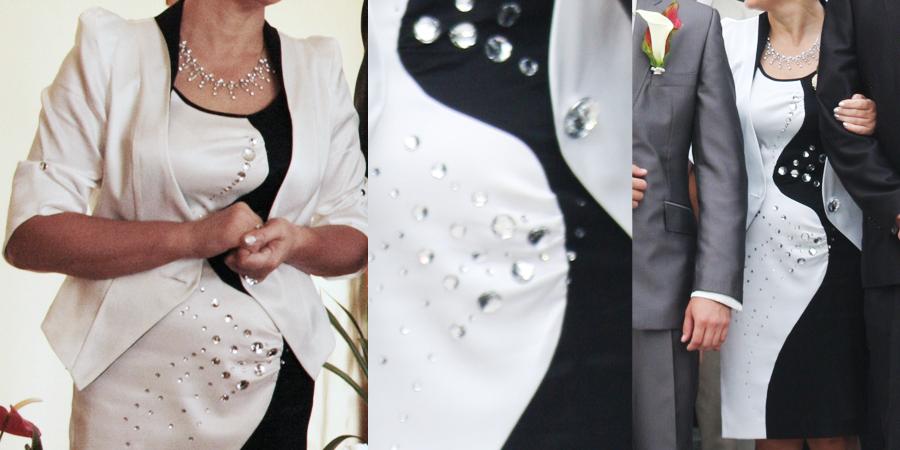 Mama Pana młodego komplet sukienka z żakietem szyty na miarę