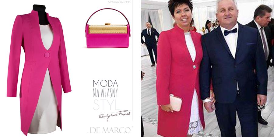 Płaszcz so sukienki, szyty na miarę dla mamy wesela, on-line w De Marco