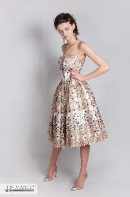 Sukienka na wesele retro. Najmodniejsza sukienka na wesele.