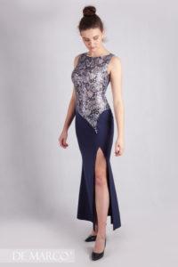Długa suknia szyta na miarę, na wesele, studniówkę, sylwestra.