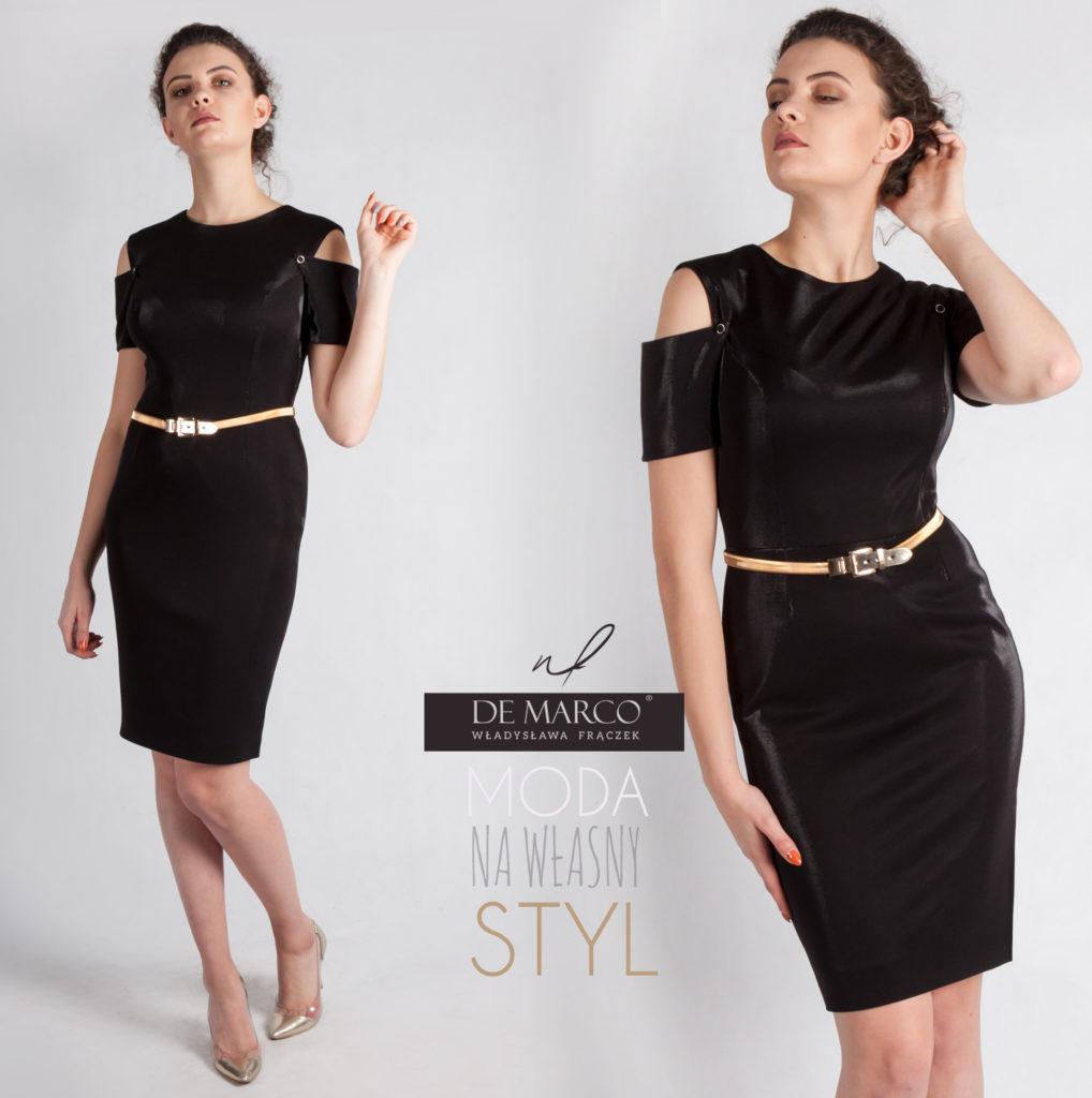 5000 sukienek szytych na miarę on-line. Elegancka czarna sukienka na bal charytatywny