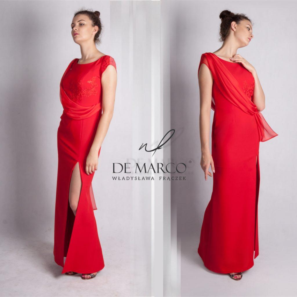 Sukienki wyszczuplające dla puszystych matek weselnych. Długie suknie w każdym rozmiarze i na każdą sylwetkę szyjemy na miarę. Zdjęcia fasonów na sklepie internetowym De Marco.