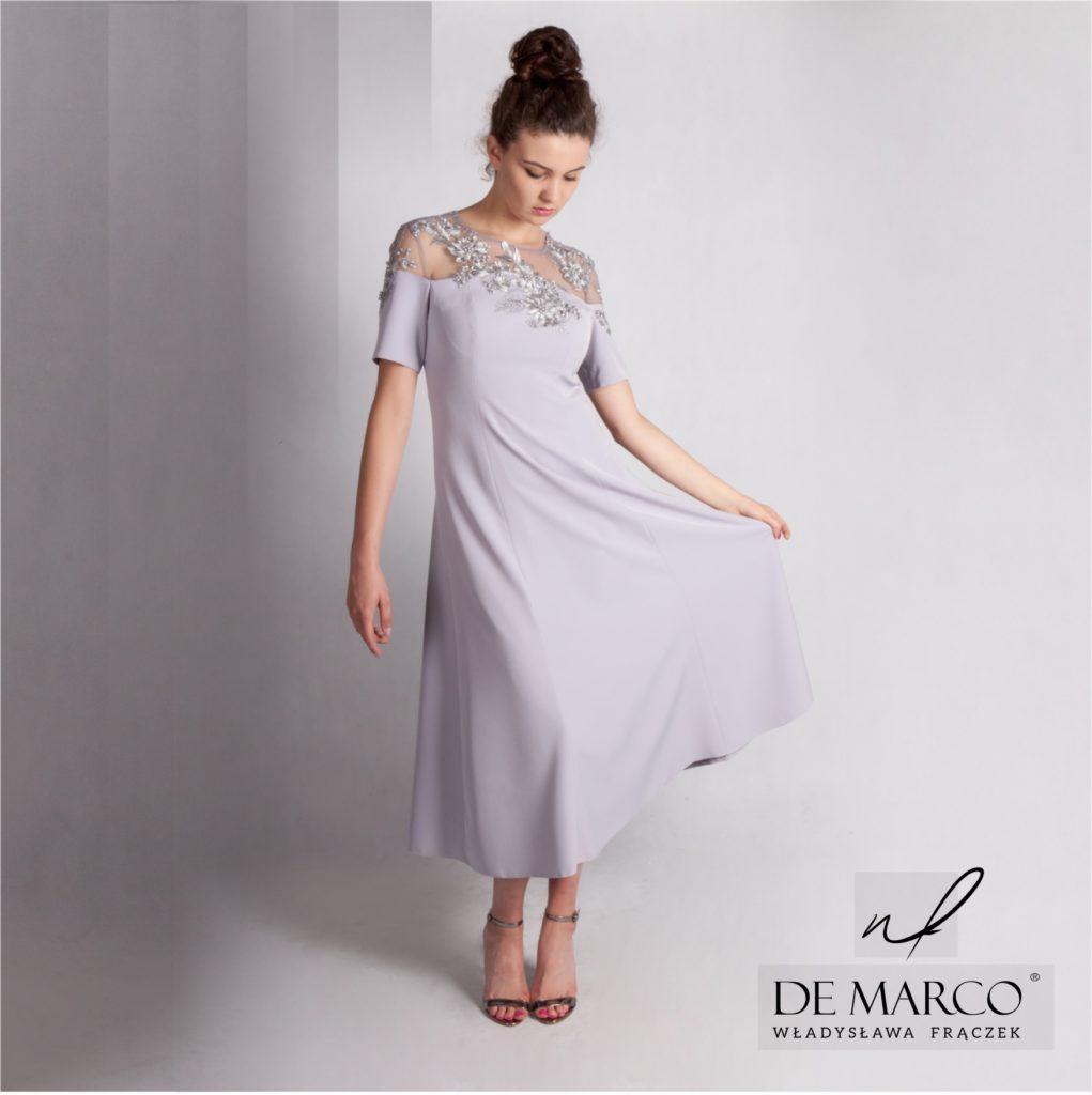 Eleganckie sukienki na wesele dla mamy zamów szycie na miarę on-line. Sklep internetowy z najpiękniejszymi kreacjami weselnymi. Salon mody ślubnej De Marco.