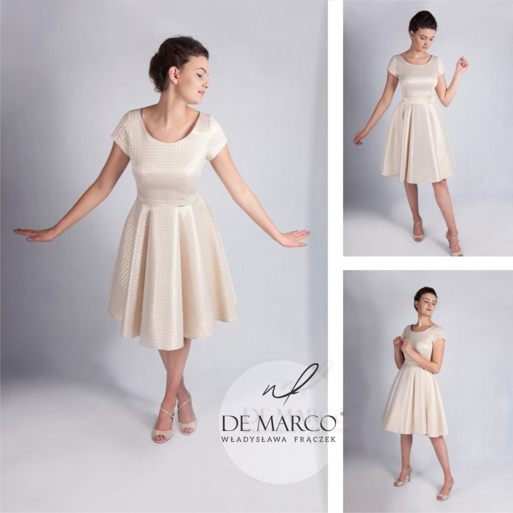 Projektowanie i szycie sukienek dla mamy weselna. Salon Mody De Marco zaprasza Matki weselne do sklepu internetowego, z oryginalnymi stylizacjami na ślub córki lub syna.