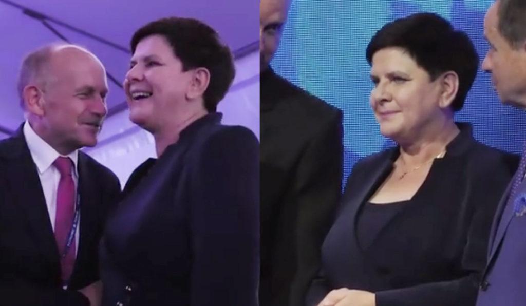 Kobieco ubrana kandydatka do europarlamentu 2019 Beata Szydło w kostiumie z De Marco.