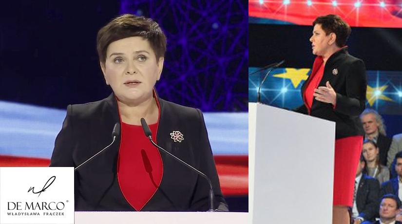 Beata Szydło w kostiumie Venus z Frydrychowic prezentuje się profesjonalnie. Kobieta która uzyskała największą ilość głosów w wyborach do Europarlamentu prezentuje się doskonale podczas kampanii wyborczej.