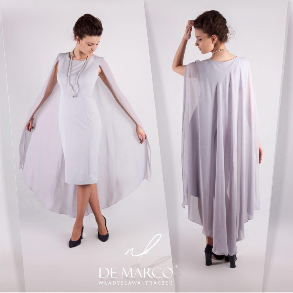 Ekskluzywne dystyngowane i stylowe suknie dla matki wesela. Fasony sukienek można obejrzeć na sklepie internetowym De Marco.