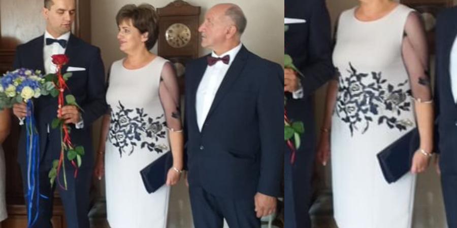 Profesjonalne szycie na miarę komplety sukienki z płaszczem dla mamy weselnej. Ekskluzywna odzież damska De Marco: sukienki, żakiety, płaszczyki, fraki, i spodnie na wesele od projektantki W. Frączek.