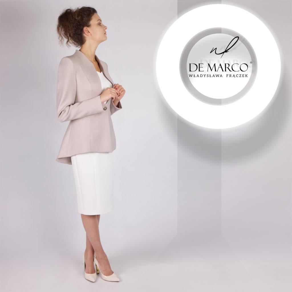 Eleganckie polskie garsonki i kostiumy damskie szyte na miarę. De Marco sklep internetowy ze stylową odzieżą szytą na miarę.