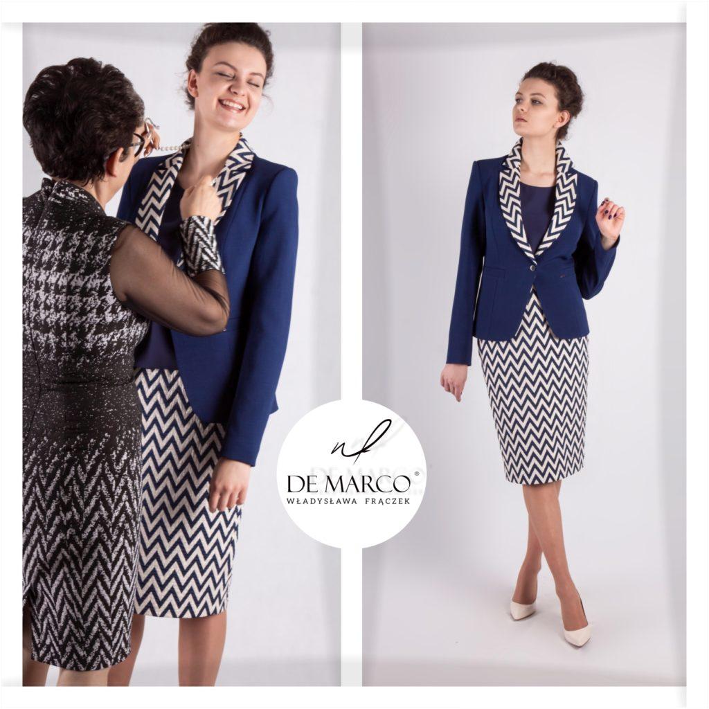 Eleganckie garsonki i kostiumy damskie sklep internetowy De Marco