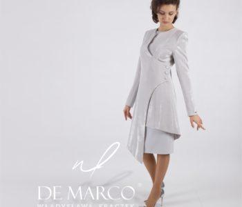 Eleganckie płaszcze i sukienki na wesele dla mamy sklep De Marco.