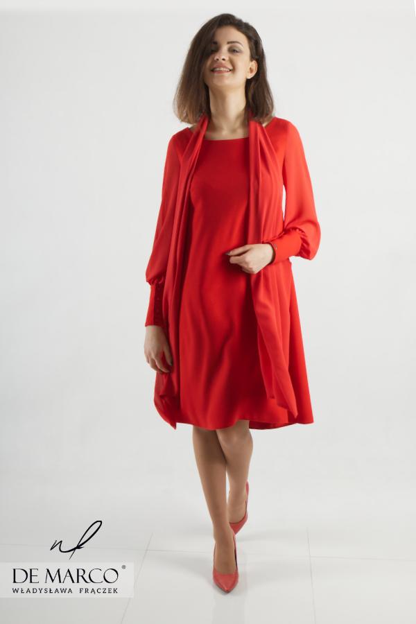 Wyszczuplajace sukienki dla figury jabłko