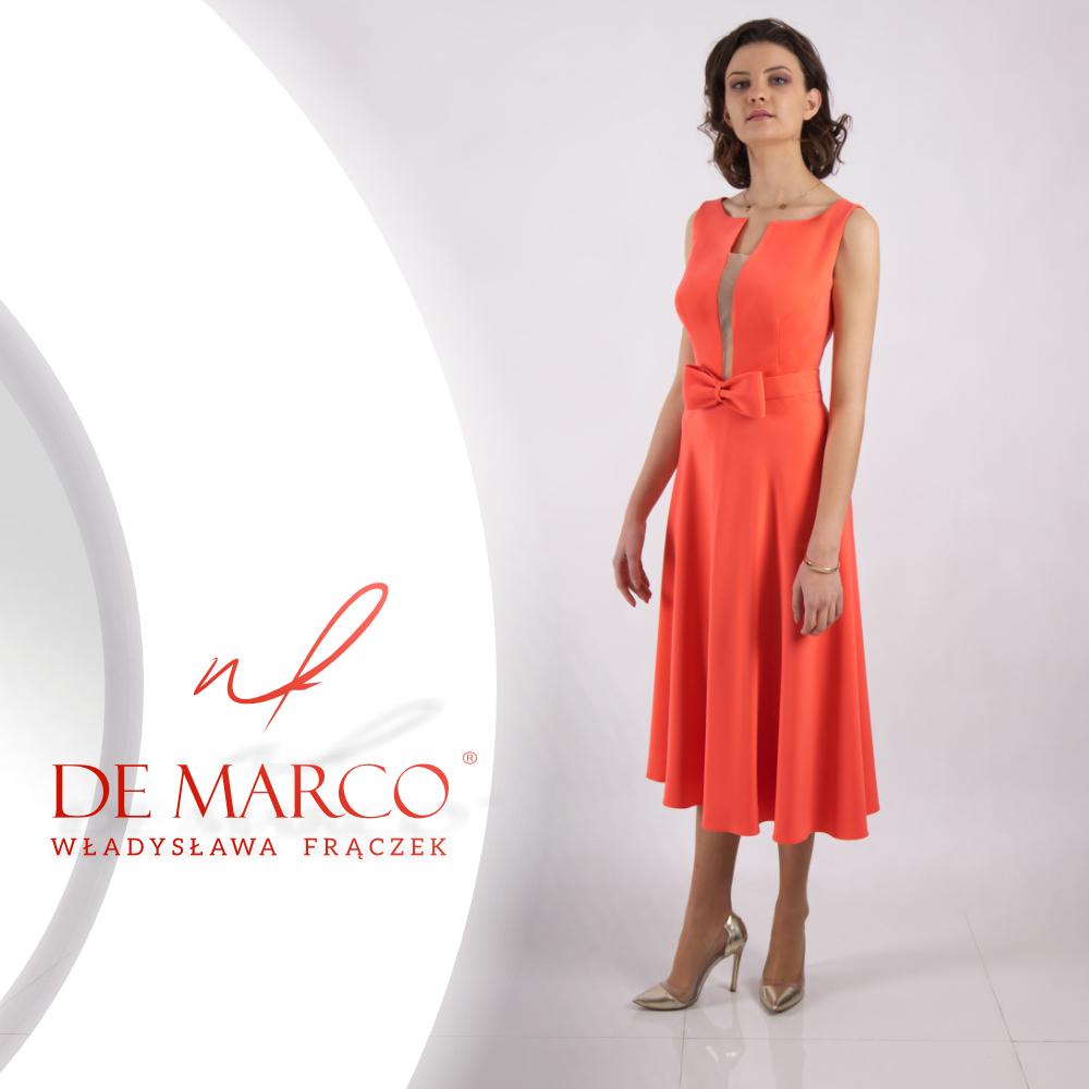 Najmodniejsze sukienki na wesele dla mamy panny młodej lub pana młodego w stylu Kennedy. Sklep z ekskluzywną odzieżą damska De Marco.