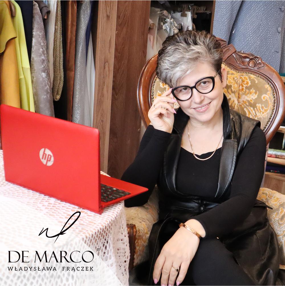 projektowanie i szycie na misrę w Salonie Mody De Marco.
