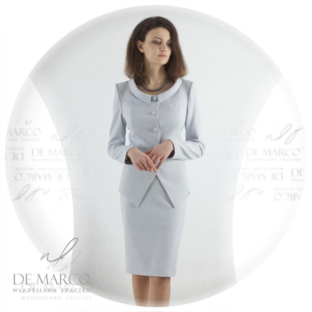 Elehancki wizytowy kostium damski De Marco