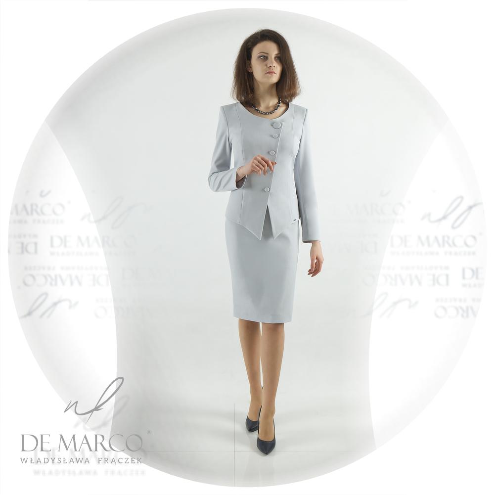 Elegancki komplet żakiet ze spódnicą De Marco