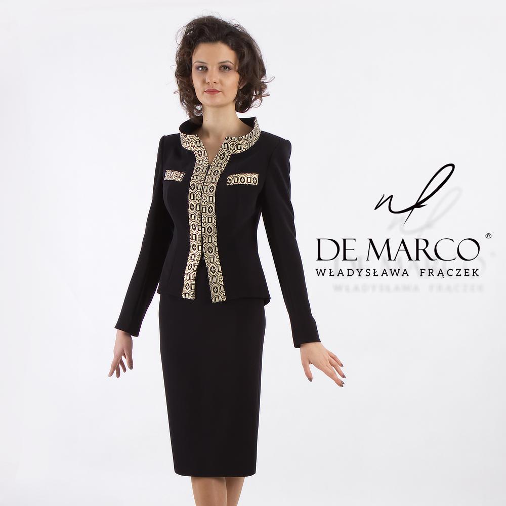 Eksluzywny kostium damski żakiet i spódnica De Marco