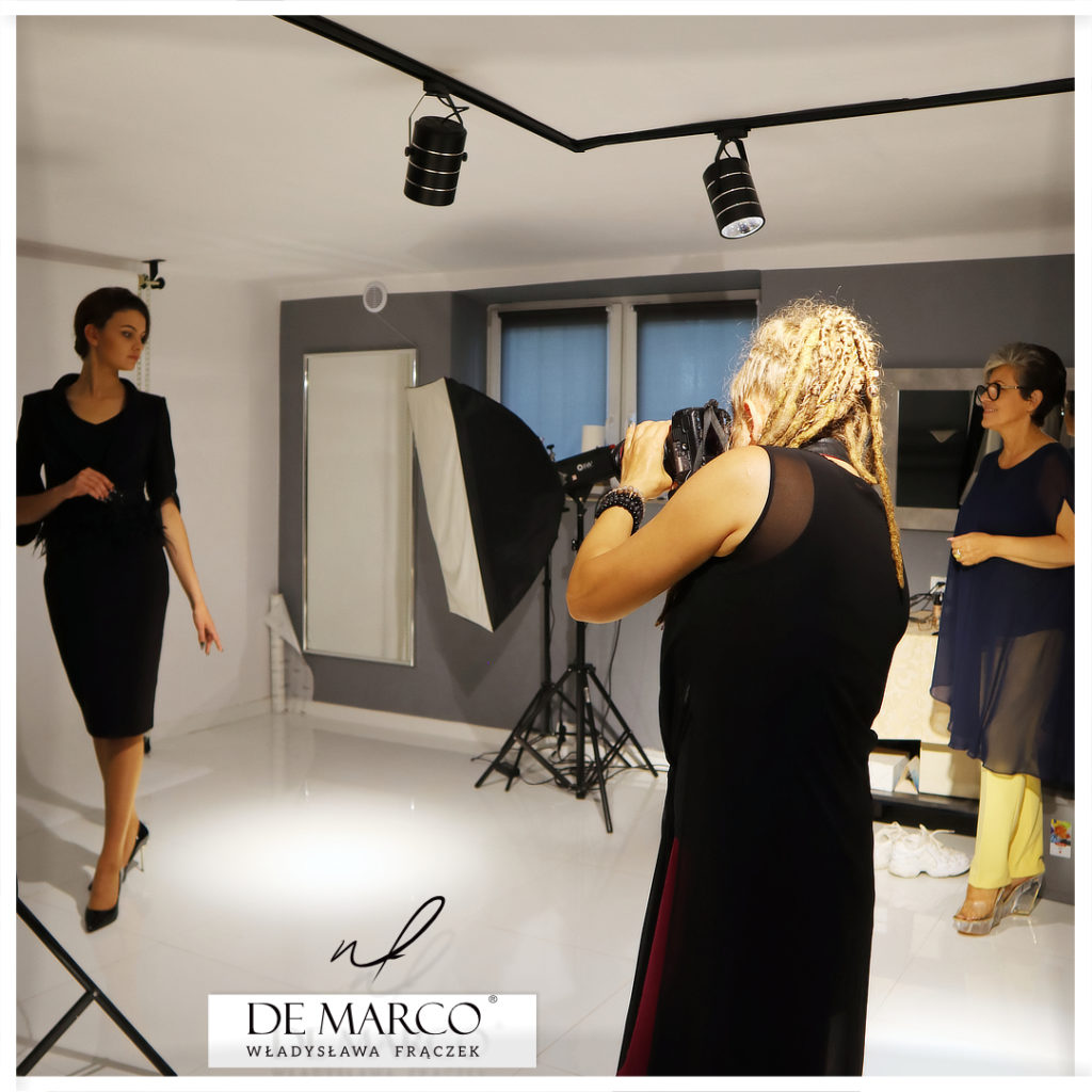 Podczas sesji zdjęciowej nad nową kolekcją De Marco