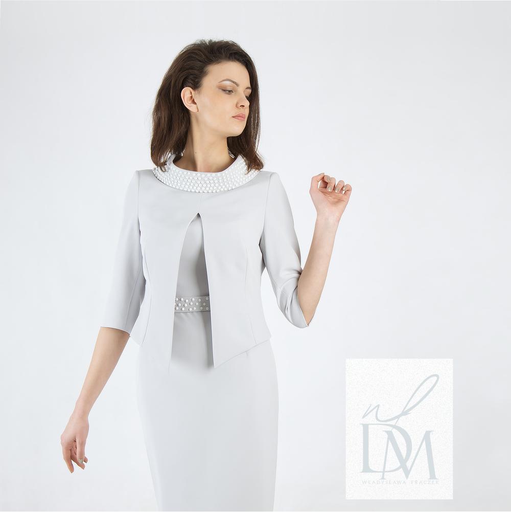 """Ekskluzywny komplet żakiet z sukienką na wesele dla mamy w stylu Audrey Hepburn i jej """"Śniadanie u Tiffany'ego"""""""