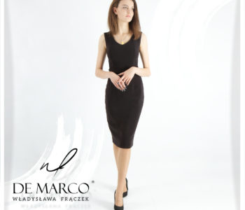 Elegancka i ponadczasowa sukienka.