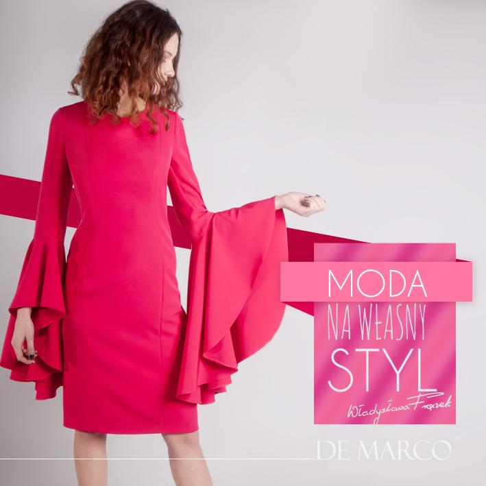 Klasyczna suknia z szerokimi rękawami