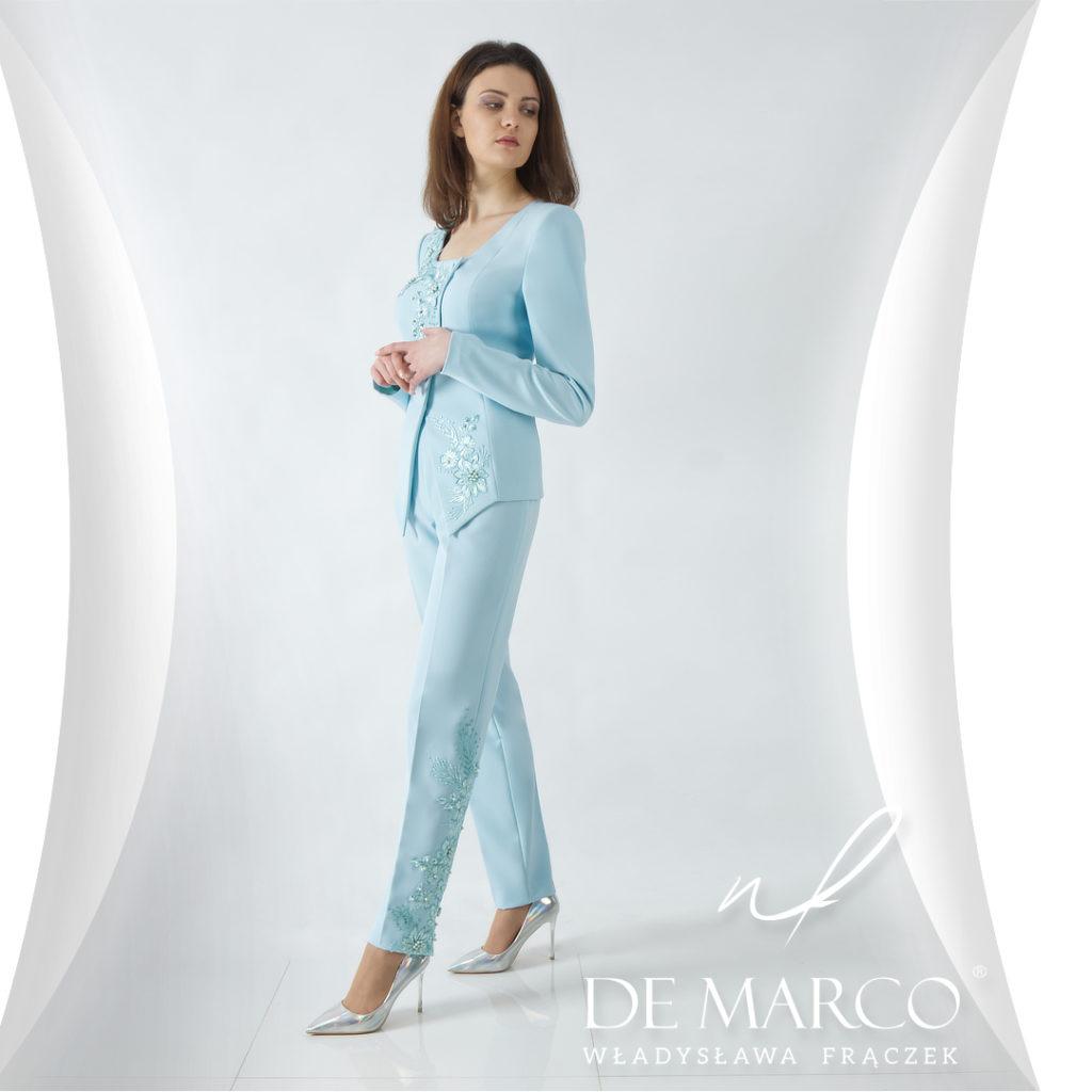 De Marco eleganckie komplety damskie ze spodniami na wesele