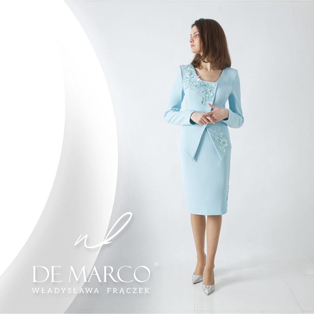 Ekskluzywna garsonka na wesele dla mamy.  Salon De Marco