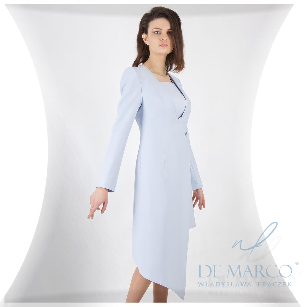 Elegancki płaszczyk do sukienki na wesele szyte na miarę w De Marco
