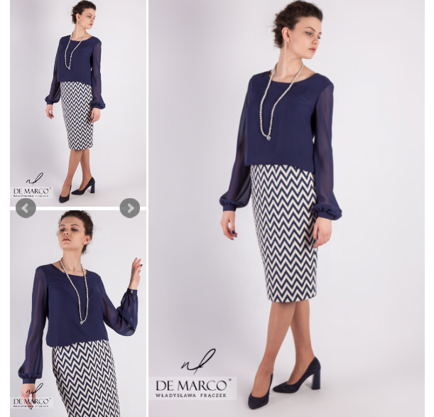 elegancka bluzka do spódnicy