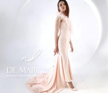 Suknia ślubna typu syrena z trenem